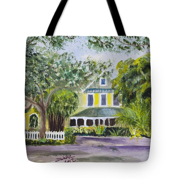 Sundy House In Delray Beach Tote Bag by Donna Walsh