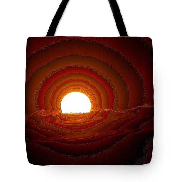 Sunfall Behind The Mountains Tote Bag by Jeff Swan