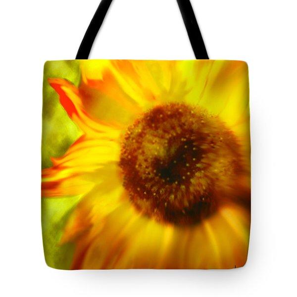 Tote Bag featuring the digital art Sunflower-a-blaze by Janie Johnson