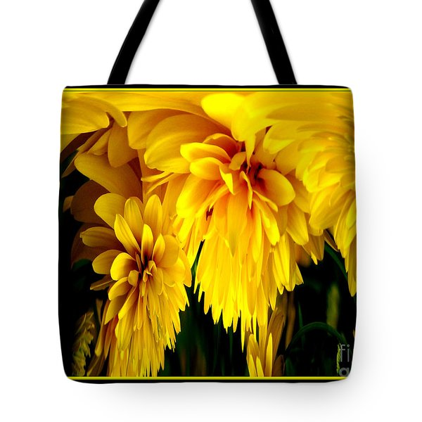 Sunflower Abstract 1 Tote Bag by Rose Santuci-Sofranko
