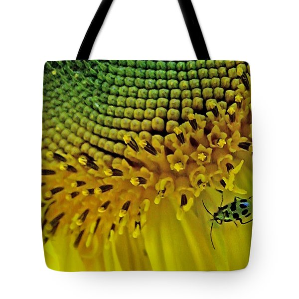 Sunflower And Beetle Tote Bag