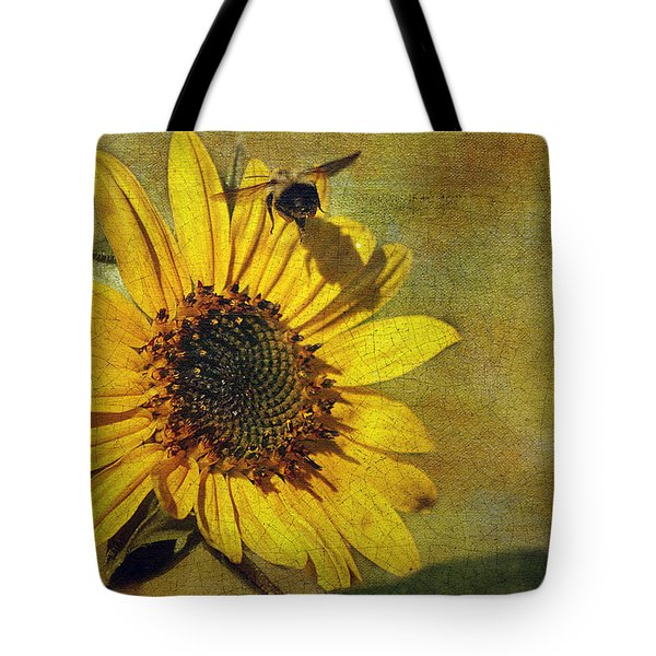 Sunflower And Bumble Bee Tote Bag