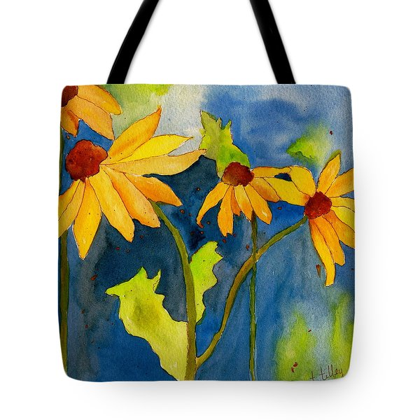 Sunflower Blue Watercolor Tote Bag by Teresa Tilley