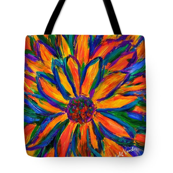 Sunflower Burst Tote Bag