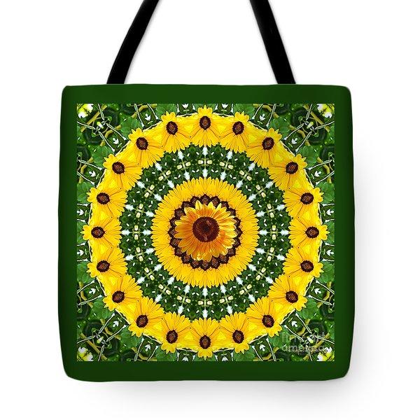 Sunflower Centerpiece Tote Bag