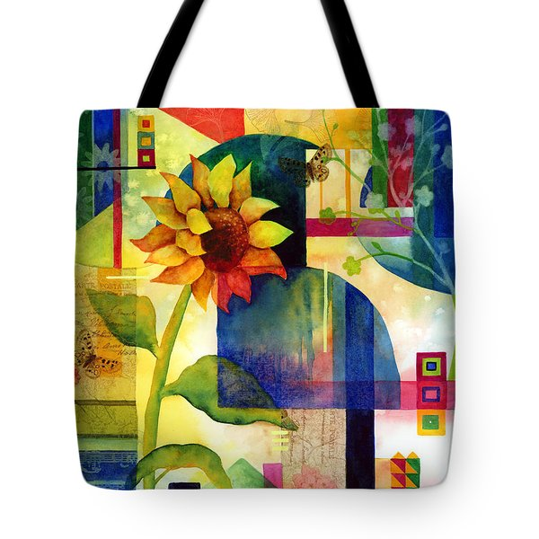 Sunflower Collage Tote Bag