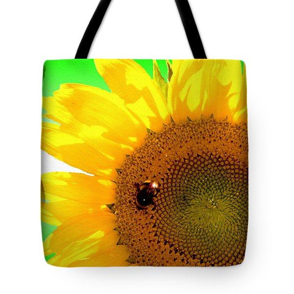 Tote Bag featuring the digital art Sunflower by Daniel Janda