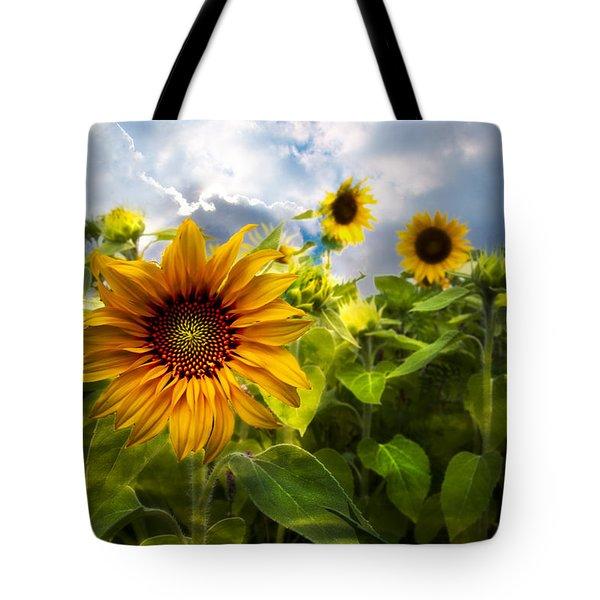 Sunflower Dream Tote Bag by Debra and Dave Vanderlaan