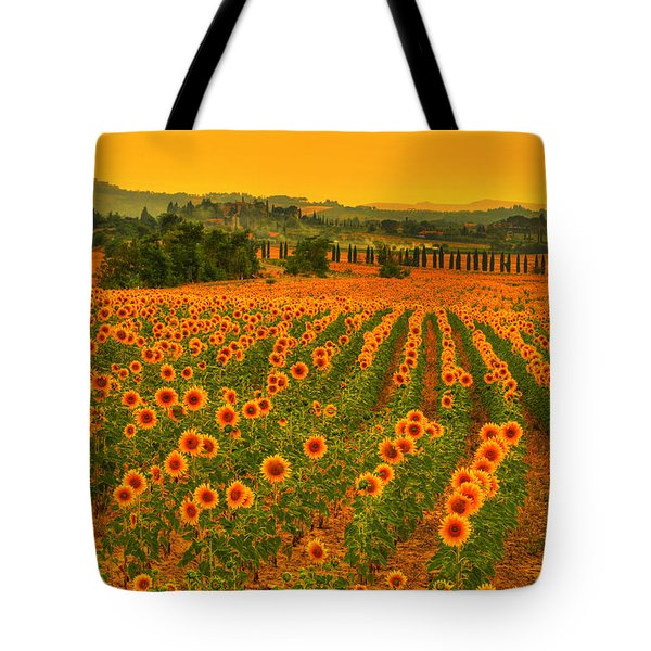 Sunflower Dream Tote Bag by Midori Chan