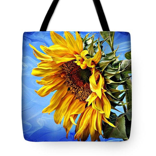 Tote Bag featuring the photograph Sunflower Fantasy by Barbara Chichester