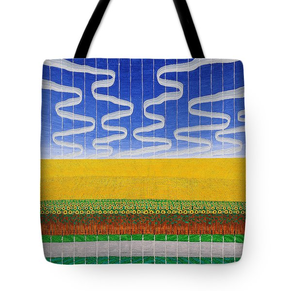 Sunflower Fields Tote Bag