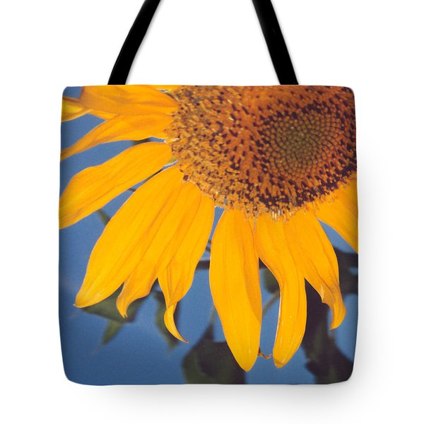 Sunflower In The Corner Tote Bag by Heather Kirk