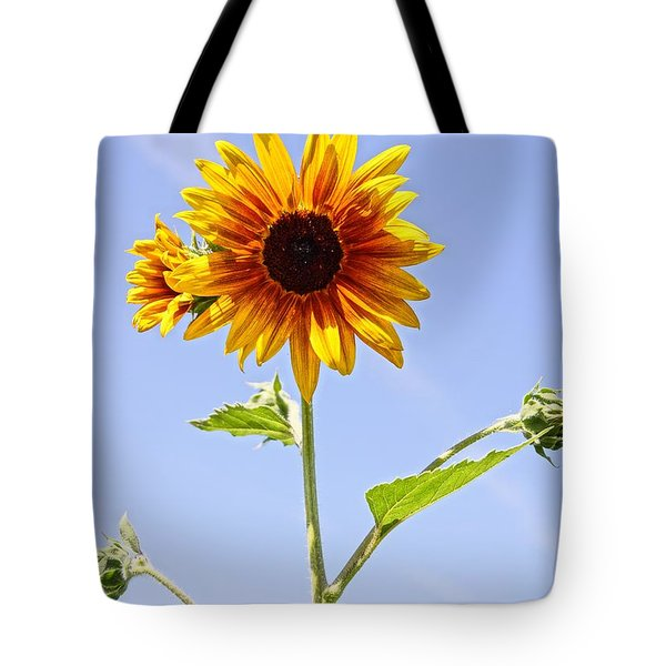 Sunflower In The Sky Tote Bag by Kerri Mortenson