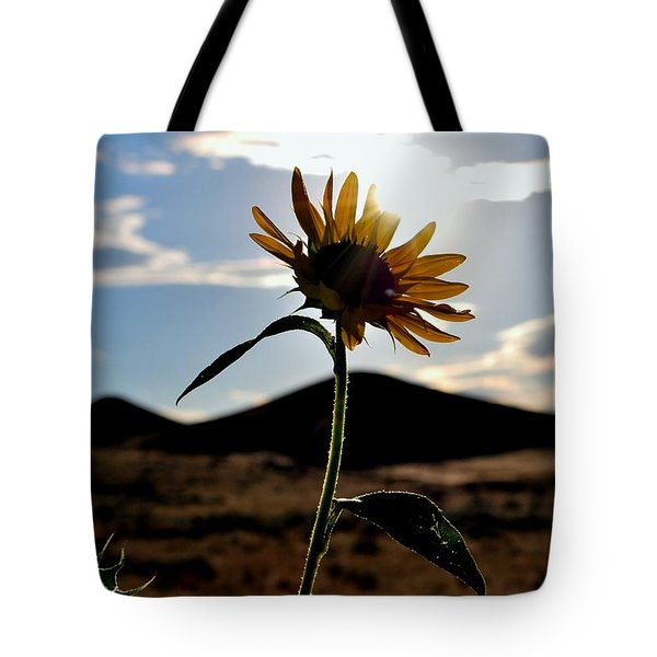 Tote Bag featuring the photograph Sunflower In The Sun by Matt Harang