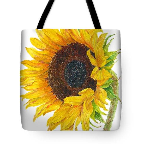 Sunflower - Helianthus Annuus Tote Bag