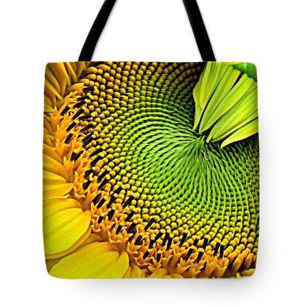 Sunflower Kaleidescope Tote Bag