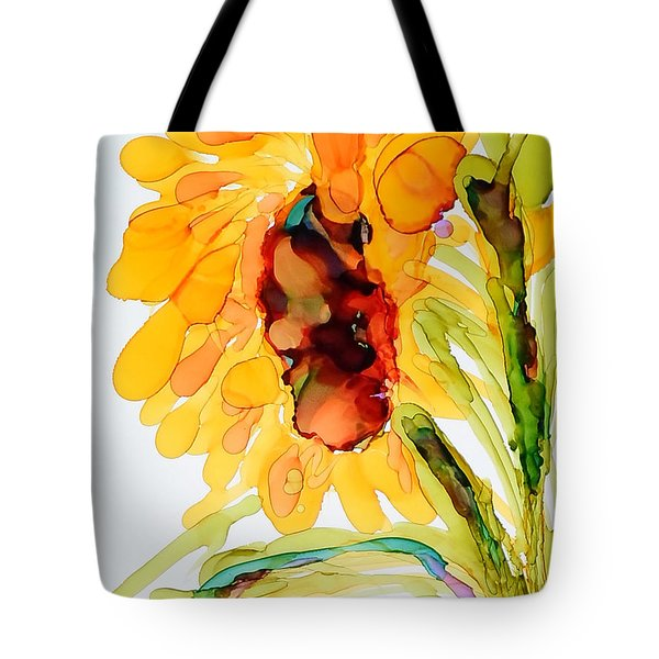 Sunflower Left Face Tote Bag by Vicki  Housel