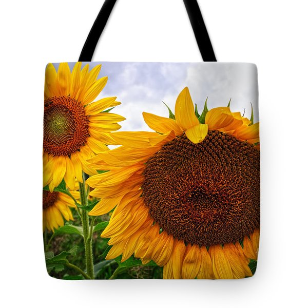 Sunflower Mama And Her Daughters  Tote Bag