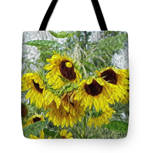 Tote Bag featuring the photograph Sunflower Morn II by Ecinja Art Works