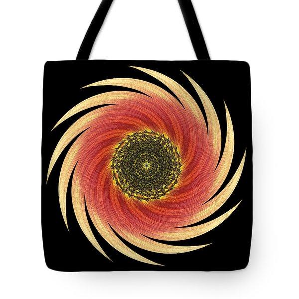 Sunflower Moulin Rouge Vii Flower Mandala Tote Bag by David J Bookbinder