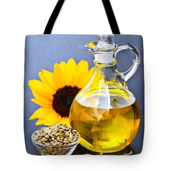 Sunflower Oil Bottle Tote Bag