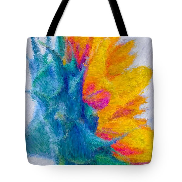 Sunflower Profile Impressionism Tote Bag by Heidi Smith