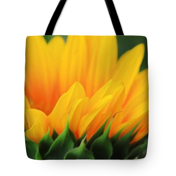 Sunflower Profile Tote Bag