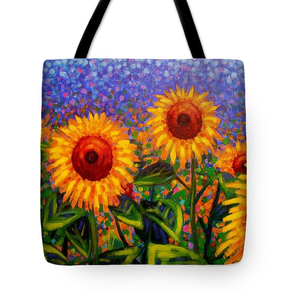 Sunflower Scape Tote Bag by John  Nolan