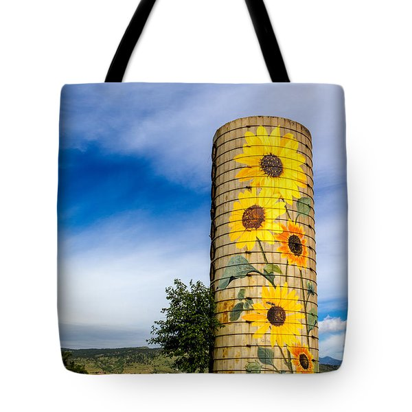 Sunflower Silo Tote Bag by Teri Virbickis