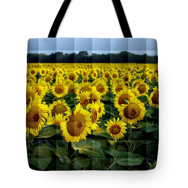 Sunflower Squared Tote Bag by Kathy Churchman