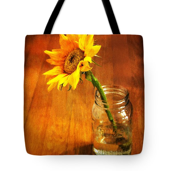 Sunflower Still Life Tote Bag by Sandi OReilly