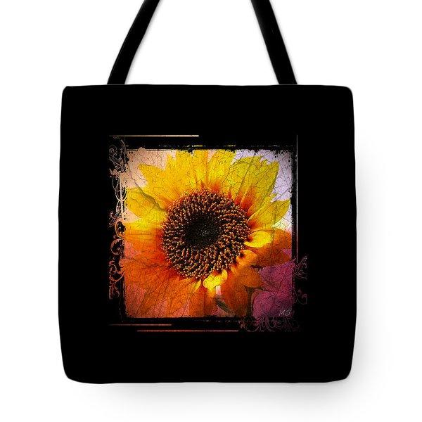 Tote Bag featuring the digital art Sunflower Sunset - Art Nouveau  by Absinthe Art By Michelle LeAnn Scott