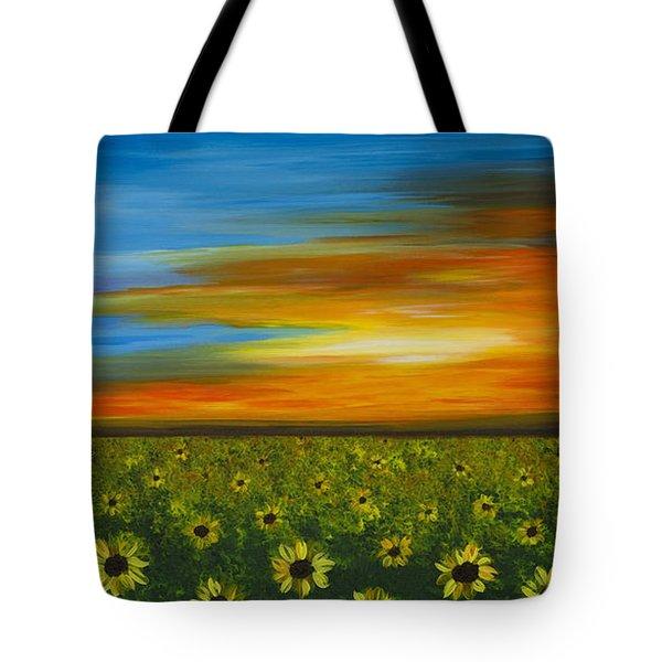 Sunflower Sunset - Flower Art By Sharon Cummings Tote Bag by Sharon Cummings