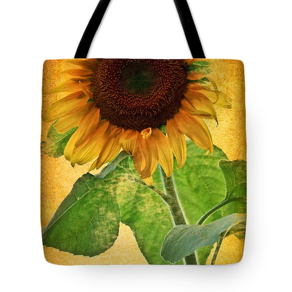 Sunny Sunflower Wall Art Tote Bag