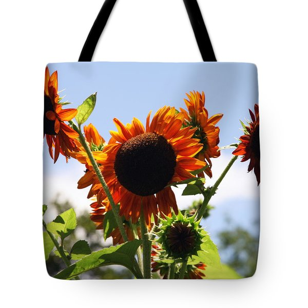 Sunflower Symphony Tote Bag by Karen Wiles