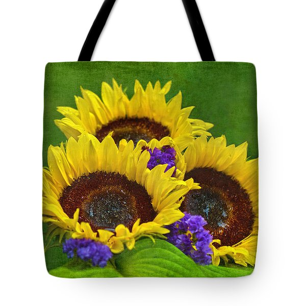Sunflower Trio Tote Bag