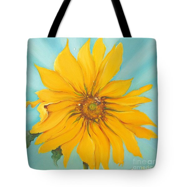 Sunflower With Bee Tote Bag by Bettina Star-Rose