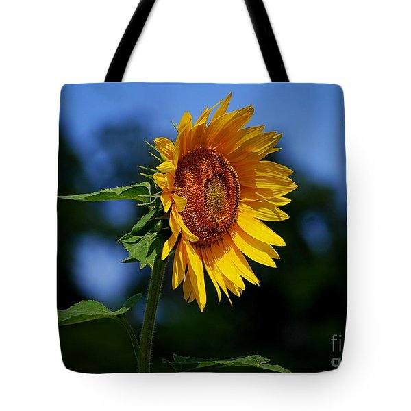 Sunflower With Honeybee Tote Bag