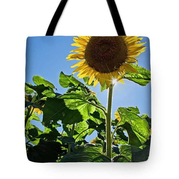 Sunflower With Sun Tote Bag