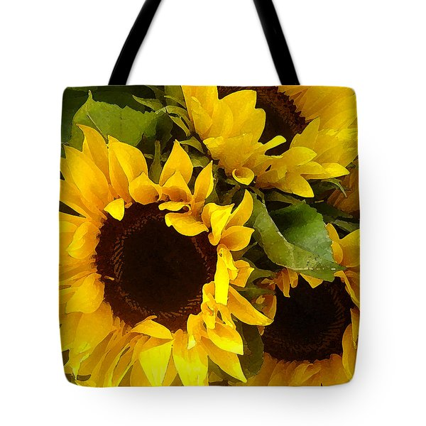 Sunflowers Tote Bag by Amy Vangsgard