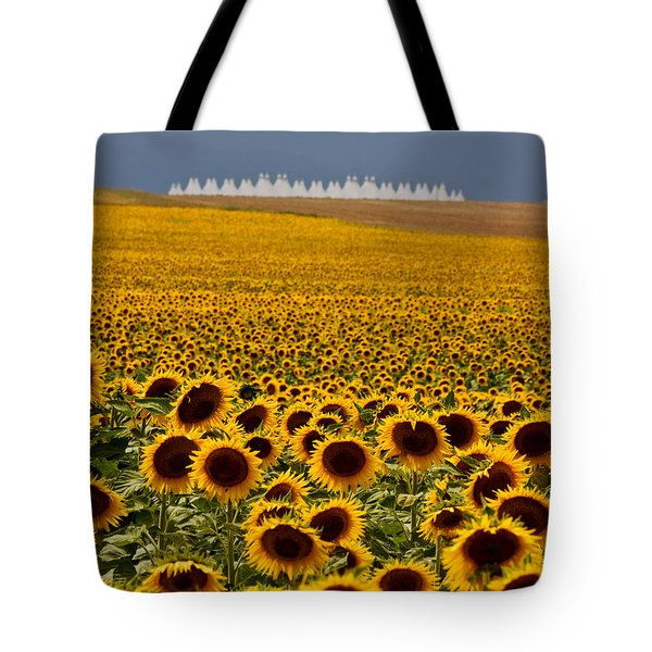 Tote Bag featuring the photograph Sunflowers And Airports by Ronda Kimbrow