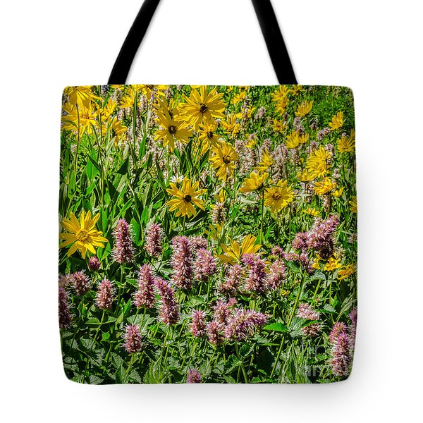 Sunflowers And Horsemint Tote Bag