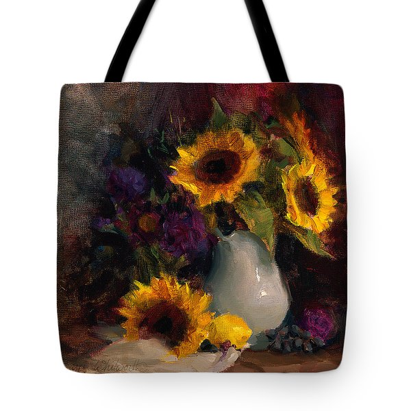 Sunflowers And Porcelain Still Life Tote Bag