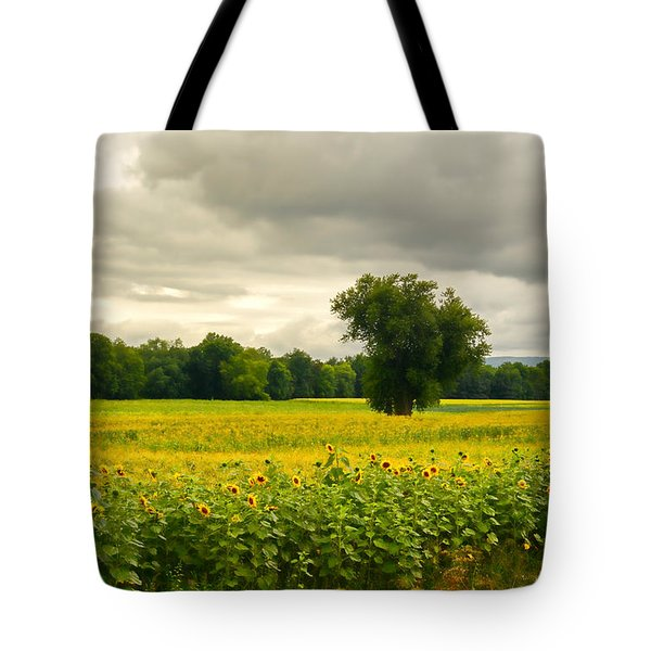 Sunflowers And The Tree Tote Bag