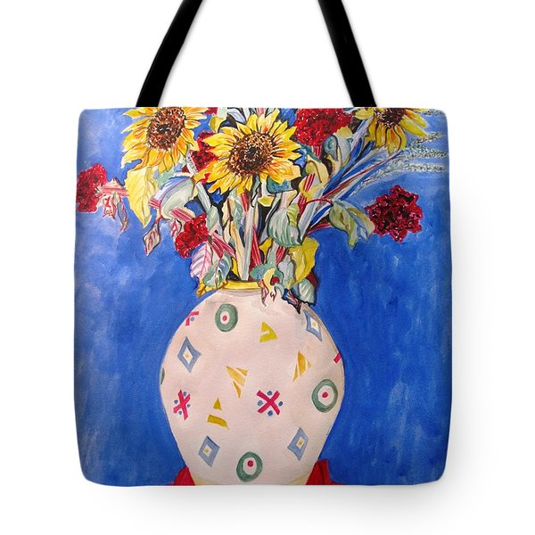 Sunflowers At Home Tote Bag by Esther Newman-Cohen