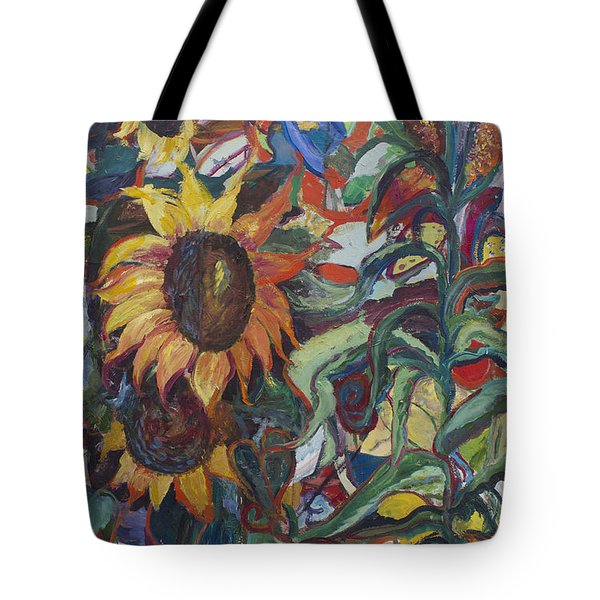 Sunflowers Tote Bag by Avonelle Kelsey