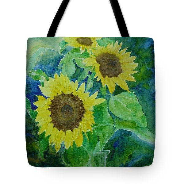 Sunflowers Colorful Sunflower Art Of Original Watercolor Tote Bag