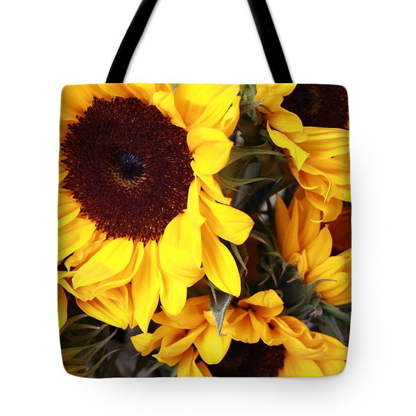 Tote Bag featuring the photograph Sunflowers by Dora Sofia Caputo Photographic Art and Design