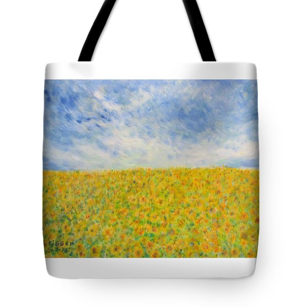Sunflowers  Field In Texas Tote Bag