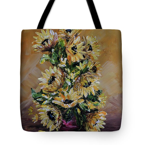 Sunflowers For You Tote Bag by Teresa Wegrzyn
